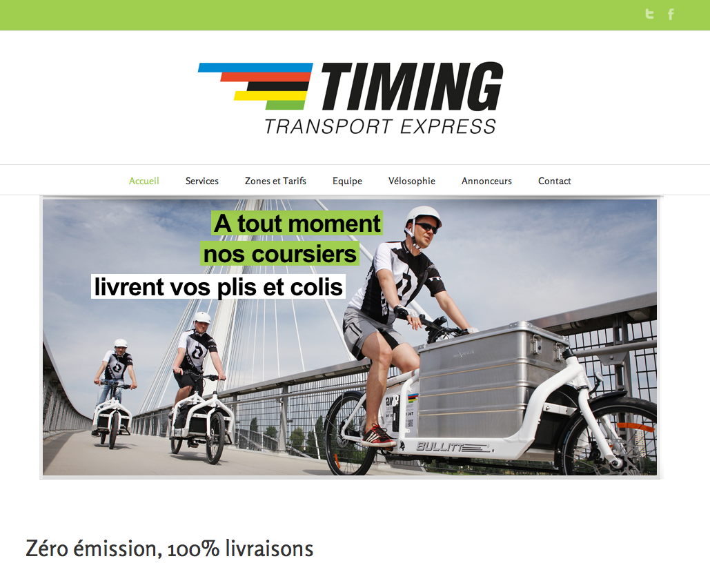 Communication et site internet pour  Timing transport express / Graphisme par Octoprint