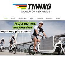 Identité graphique pour Timing transport express