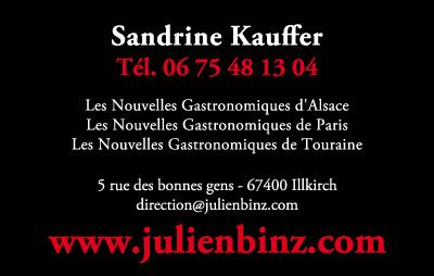 Carte De Visite Pour Sandrine Kauffer Le Journal Julien Binz