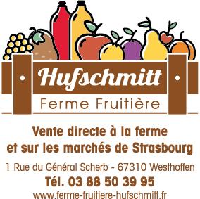 Le logo de la ferme Hufschmitt, producteur de fruits à Westhoffen en Alsace