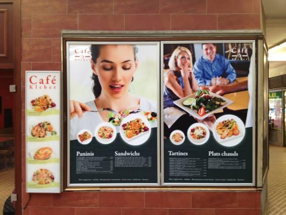 Panneaux pour le Café Kleber à Strasbourg / Création et production graphique par Octoprint