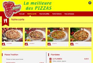 Site internet, dépliant et panneaux pour Sam Pizzas