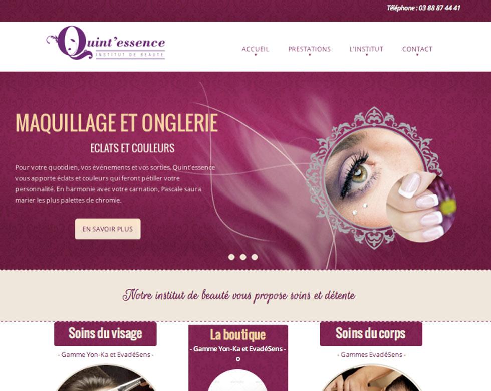 site pour l'institut de beauté Quintessence à Westhoffen