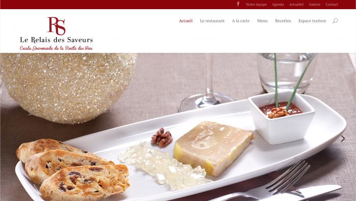 La page d'accueil du site Le Relais des Saveurs réalisé par Octoprint