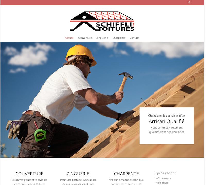Un site internet pour Schiffli-Toitures