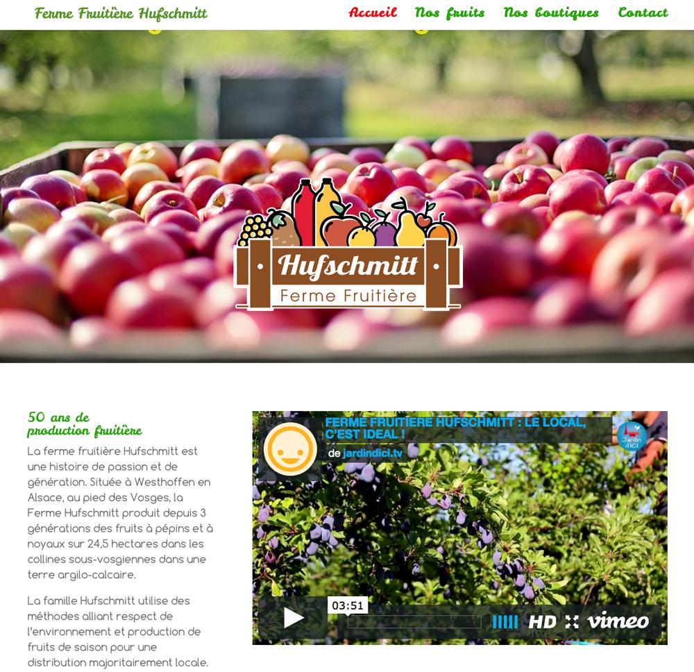 Le site internet de la ferme Hufschmitt à Westhoffen en Alsace