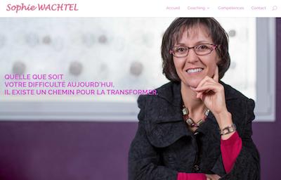 Site internet pour Sophie Wachtel – Coaching