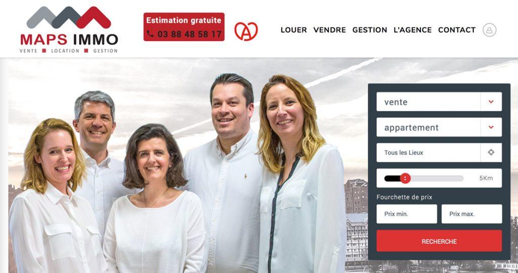 Site de l'agence Maps Immobilier