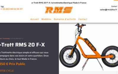 Création du site internet de RMS Bike : la trottinette électrique Made in France