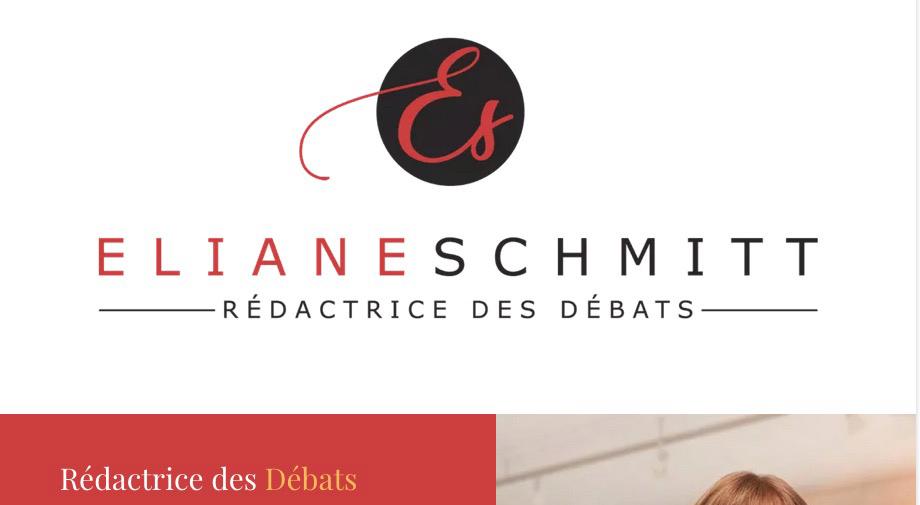 Refonte de site internet pour Eliane Schmitt – Rédactrice