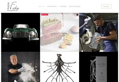 Refonte du site internet pour la photographe Karine Faby