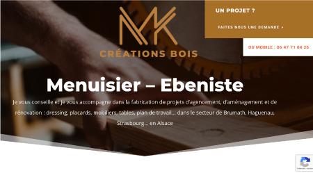 Création site internet pour le menuisier – ébéniste MK Créations Bois