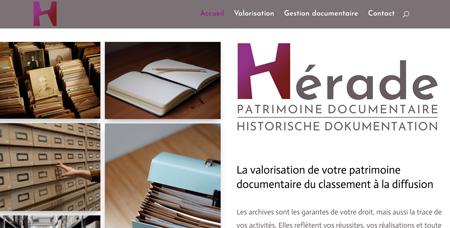 Accompagnement à la création de site pour Hérade – Archiviste