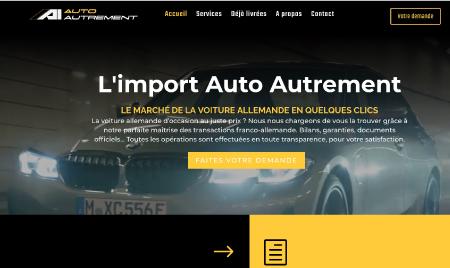 Création du site Auto-Autrement, courtier automobile