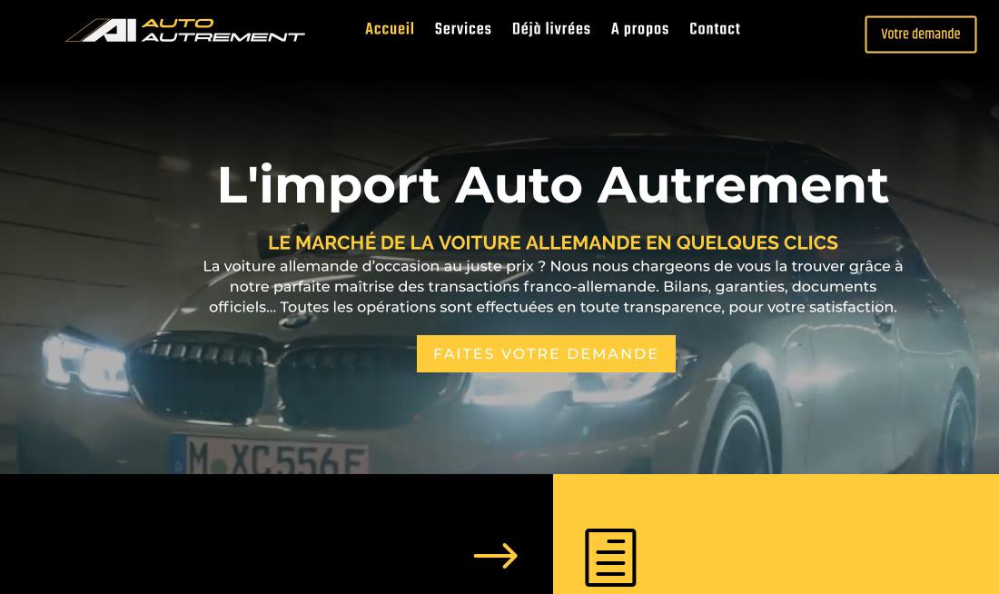 visuel du site internet courtier automobile auto autrement-alsace